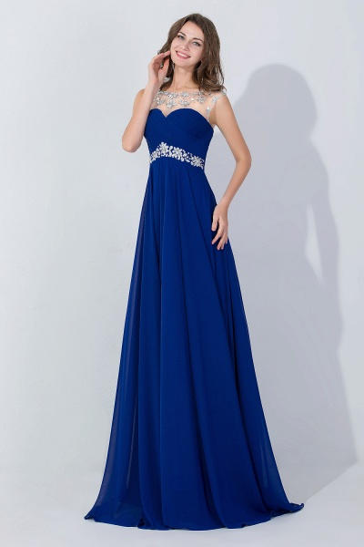 A-line Sweetheart Crystal Chiffon Evening Dress_5