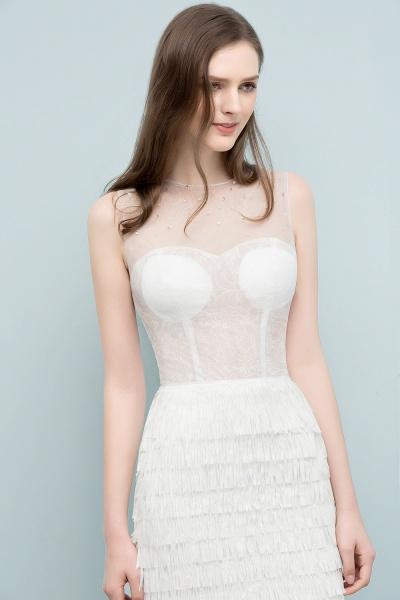 Sleeve Strapless Ruffles Short Formal Dress_3