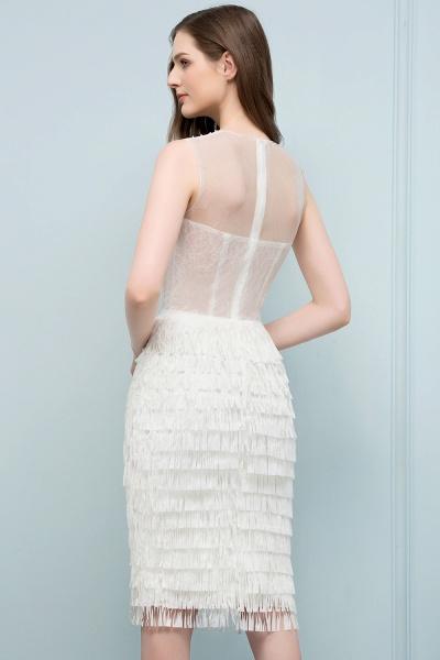 Sleeve Strapless Ruffles Short Formal Dress_4