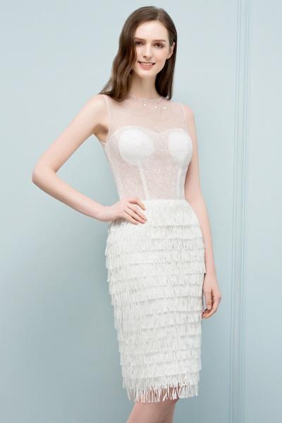 Sleeve Strapless Ruffles Short Formal Dress_6