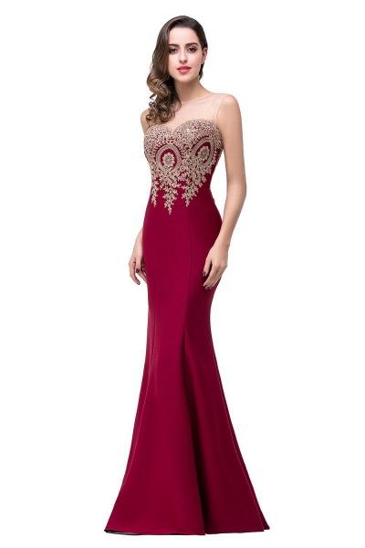 Mermaid Floor-Length Sheer Prom Dresses with Rhinestone Appliques_6