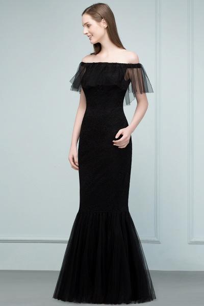 Off The Shoulder Black Mermaid Prom Dress_5