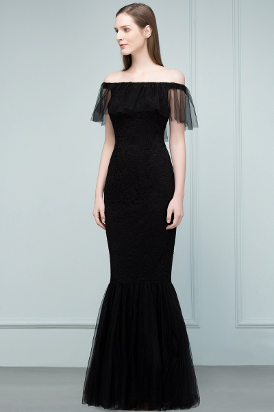 Off The Shoulder Black Mermaid Prom Dress_3