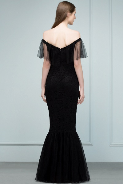 Off The Shoulder Black Mermaid Prom Dress_4