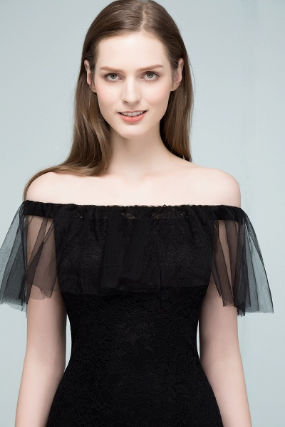 Off The Shoulder Black Mermaid Prom Dress_6