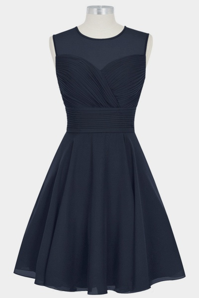 Short Ruffle Chiffon A-line Bridesmaid Dress