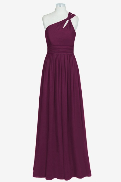 Chic One Shoulder Chiffon A-line Bridesmaid Dress