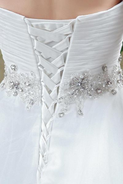 A-line Sweetheart Beading Belt Lace Up Wedding Dress_5