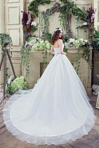 A-line Sweetheart Beading Belt Lace Up Wedding Dress_6