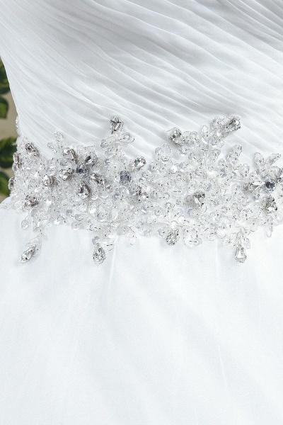 A-line Sweetheart Beading Belt Lace Up Wedding Dress_4