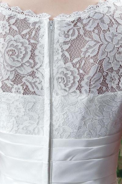 Cap Sleeve Illusion Lace Beadings Wedding Dress_5