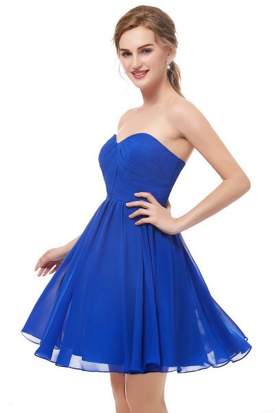NETTIE | Aline Short Sweetheart Strapless Chiffon Blue Homecoming Dresses_8